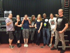 Backstage with Epica and another contest winner: Sven