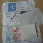 Signatures from the Stream of Passion band members